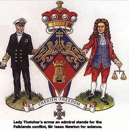 Margaret Thatcher Wappen
