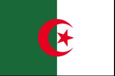 Heutige Staatsflagge Algeriens seit 03.07.1962