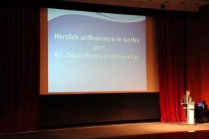 Dirk Weissleder eröffnet den 67. Genealogentag
