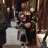 Traditioneller Bagpiper