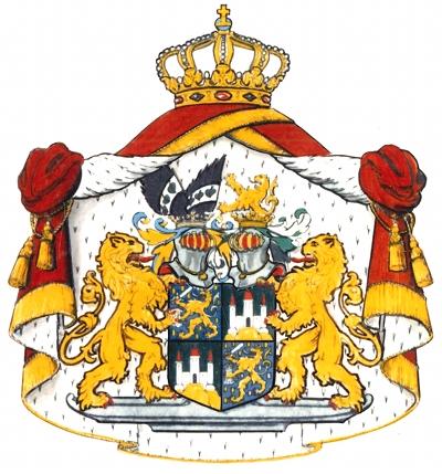 Allianzwappen Prinzessin Beatrix und Prinz Claus