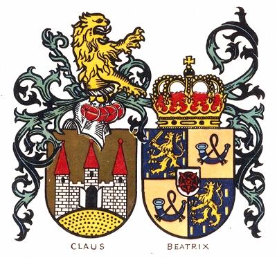 Wappen von Prinzessin Beatrix und Prinz Claus von Amsberg