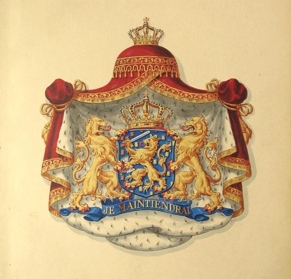 Das Staatswappen der Niederlande - Rijkswapen 1907 (reg.tek.HRvA)