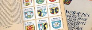 Blick ins Sammelalbum Deutsche Ortswappen von Kaffee Hag