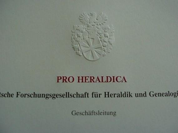 Brief und siegel mit ihrem wappen pro heraldica for Pro heraldica