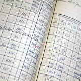Firmenchronik - Gehalts-Kontobuch alt offen