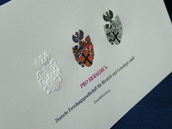 Visitenkarte Pro Heraldica