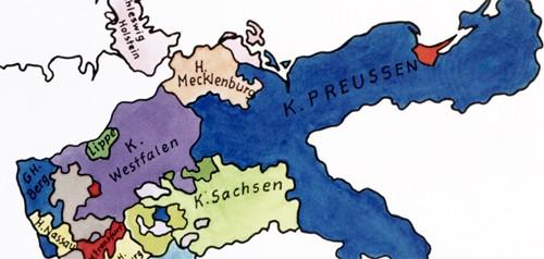 Preusen Westfalen Sachsen um 1812