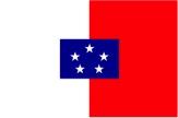 1889-1906 Flagge der anglo-französischen Kommission