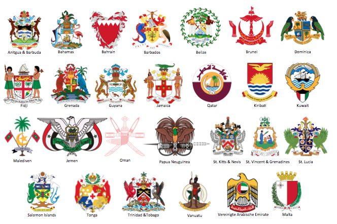 Heute vom vereinigten Königreich unabhängige Staaten