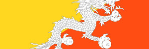 Flagge von Bhutan