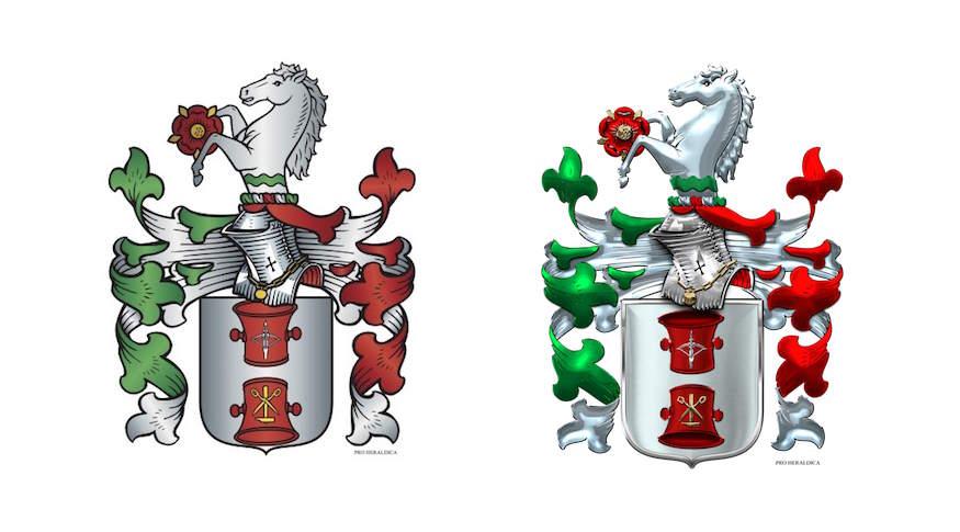 Bestellung 3d version familienwappen pro heraldica for Pro heraldica