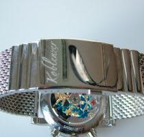 Uhr Modell 'Zeitmaschine' Rückansicht