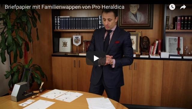Individuelles Briefpapier Mit Familienwappen Pro Heraldica